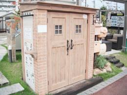 奈良店 物置・表札・ポスト展示2